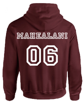 BEACON HILLS LACROSSE ON FRONT MAHEALANI ON BACK HOODIE - INSPIRED BY TEEN WOLF